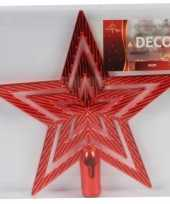 Rode ster piek kerstboomversiering 21 cm trend