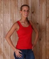 Rode tanktops voor dames trend