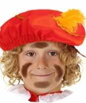 Rode zwarte pieten baret voor kids trend