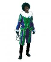 Roetveeg pieten kostuum groen blauw voor dames en heren trend