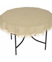 Rond tafelzeil voor buiten beige 160 cm trend