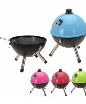 Ronde barbecue blauw 33 cm trend