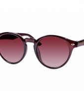 Ronde dames zonnebril bruin model 7001 trend