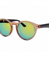 Ronde dames zonnebril bruin model 7002 trend