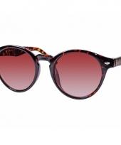 Ronde dames zonnebril met print model 7001 trend