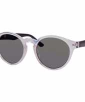Ronde dames zonnebril transparant model 7002 trend