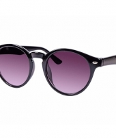 Ronde dames zonnebril zwart model 7001 trend