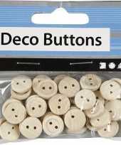 Ronde houten knoopjes 50 stuks trend