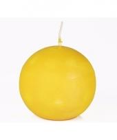 Ronde kaars geel 8 cm trend