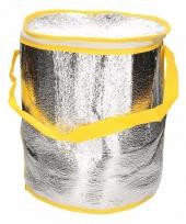 Ronde koeltas aluminium geel 26 cm trend