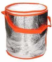 Ronde koeltas aluminium oranje 26 cm trend