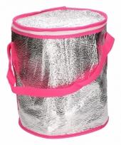 Ronde koeltas aluminium roze 26 cm trend