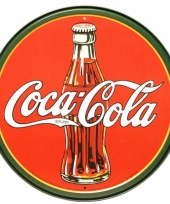 Ronde metalen wandplaat coca cola trend
