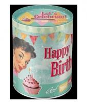Ronde verjaardag spaarpot 13 cm trend
