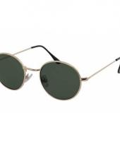 Ronde zonnebril metaal groen trend