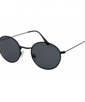 Ronde zonnebril metaal zwart trend