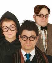 Ronde zwarte nerd verkleed bril zonder glazen trend