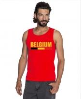 Rood belgium supporter singlet-shirt tanktop heren trend