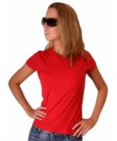 Rood dames shirtje van bella trend