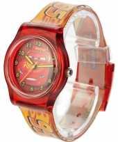 Rood disney cars analoog horloge voor jongens trend