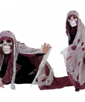 Rood doodshoofd spook kostuum trend