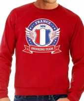 Rood france drinking team sweater heren trend