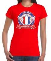 Rood france drinking team t-shirt dames trend