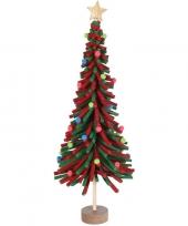 Rood groen vilten kerstboompje decoratie 45 cm trend