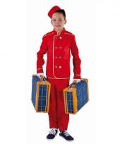 Rood hotelbediende pak voor kinderen trend