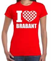 Rood i love brabant t-shirt dames trend