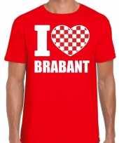 Rood i love brabant t-shirt heren trend