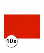 Rood knutselpapier a4 formaat 10 stuks trend