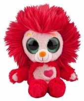 Rood leeuwen knuffeltje met muziek 20 cm trend