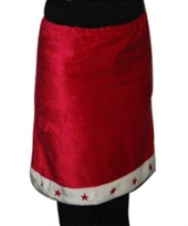 Rood met wit kerst rok trend