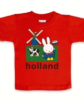 Rood nijntje baby t-shirt holland trend