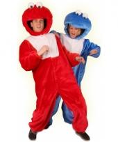 Rood pluche monster kostuum trend