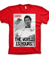 Rood scarface the world is yours t-shirt trend