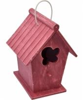 Rood vintage huisje voor vogels trend
