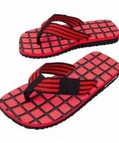 Rood zwarte teenslippers voor dames trend