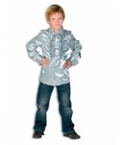 Rouche blouse jongens zilver trend