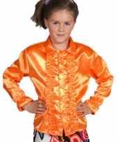Rouchesblouse oranje kids trend