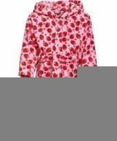 Roze badjas aardbei voor meisjes trend