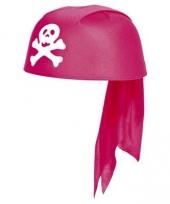 Roze bandana hoed piraten thema trend