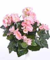 Roze begonia kunstplant 30 cm voor binnen trend