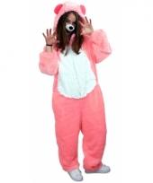 Roze beren overall voor volwassenen trend