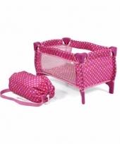 Roze campingbedje voor poppen trend