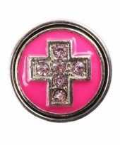 Roze chunk met kruis 1 8 cm trend