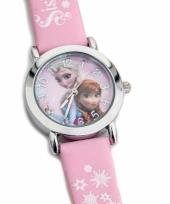 Roze frozen horloge voor meiden trend