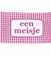 Roze geboorte vlag meisje 90 x 150 cm trend