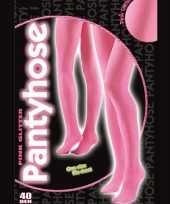 Roze glitter pantys 40 denier trend
